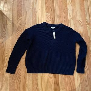 NWT madewell navy Joslin cotton sweater xxs